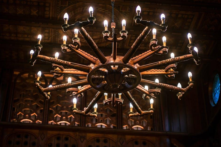 chandelier illuminated lights