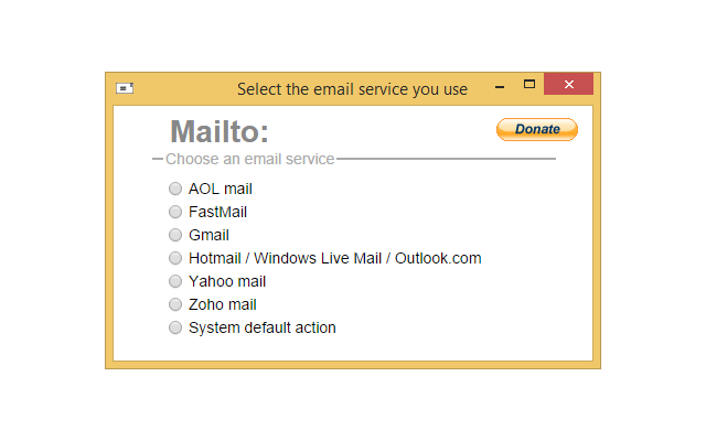 Mailto: chrome extension