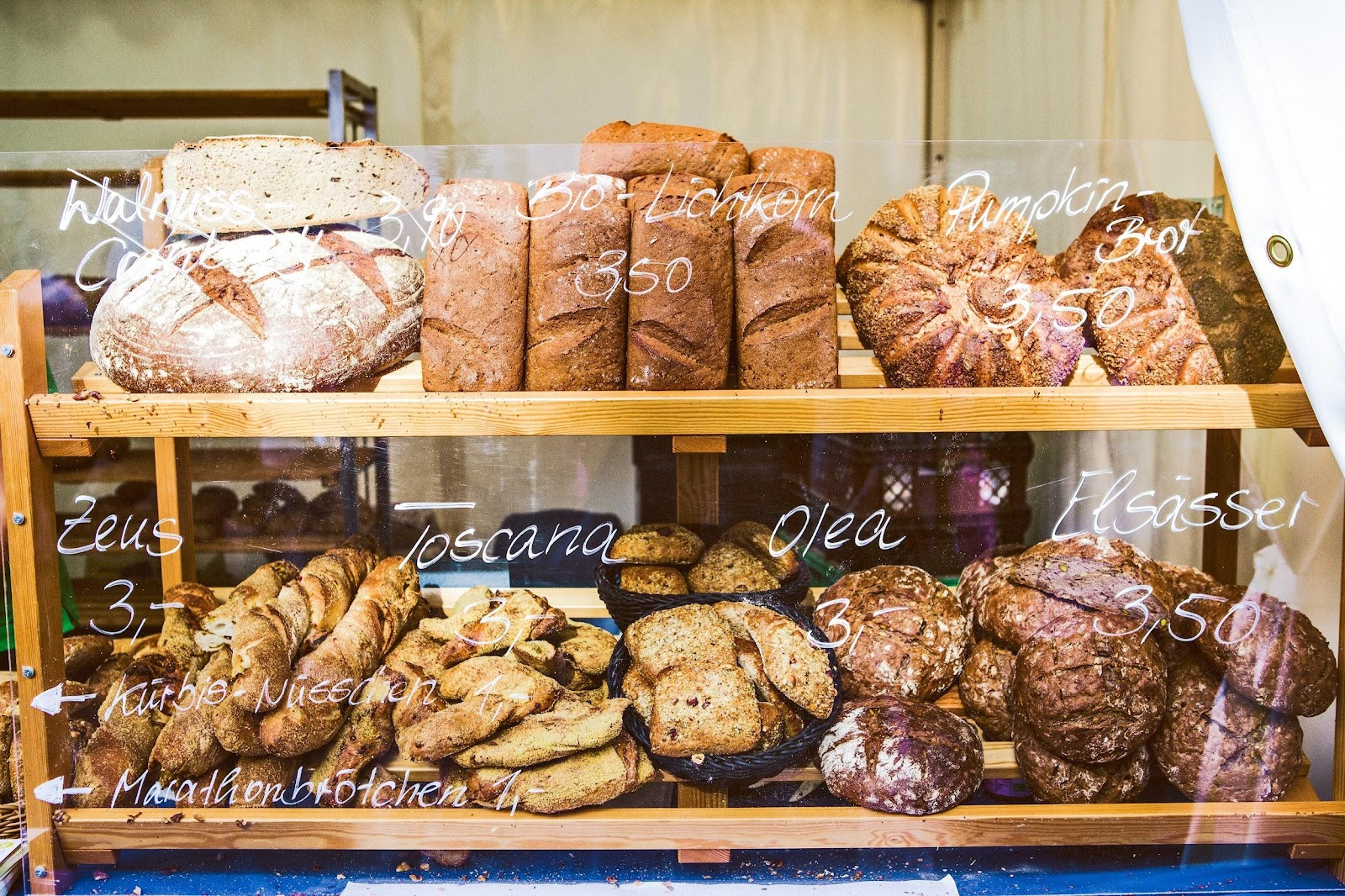 startup bakery displaying baked goods