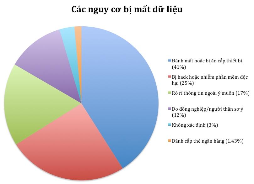 biểu đồ tròn nguy cơ bị mất dữ liệu