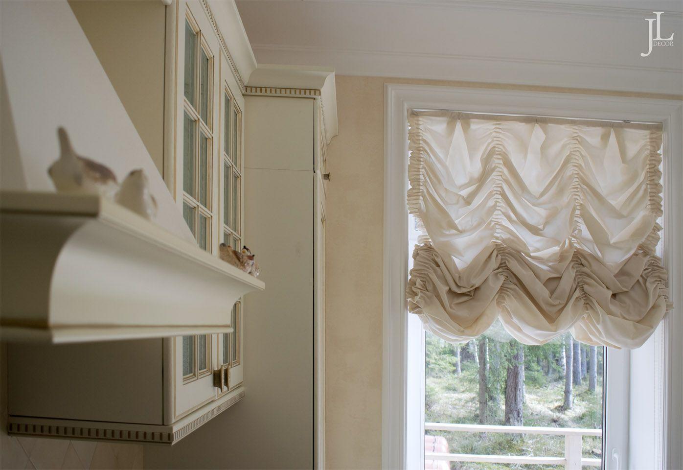 Французские шторы на кухню - как подобрать и варианты оформления