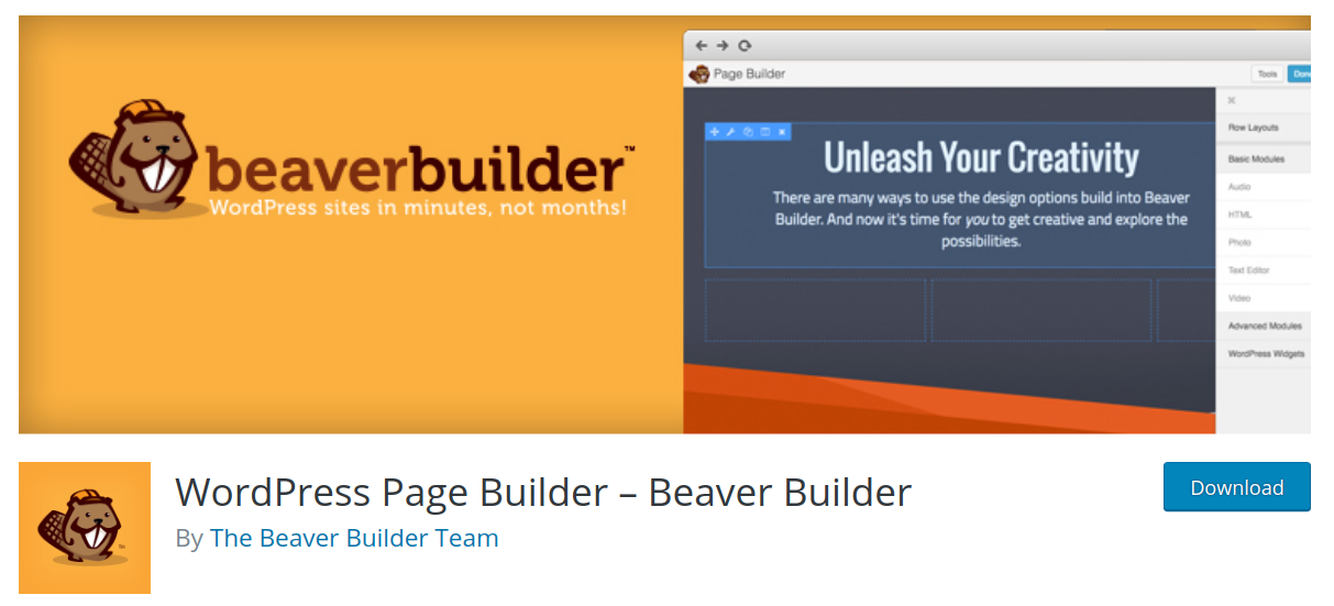 beaver builder wordpress page builder plugin header
