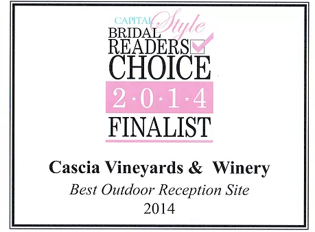 Bridal Readers Choice 2014 Finalist