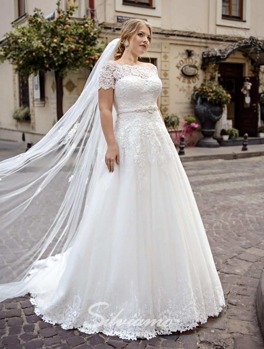 Свадебное платье на кокетке большого размера