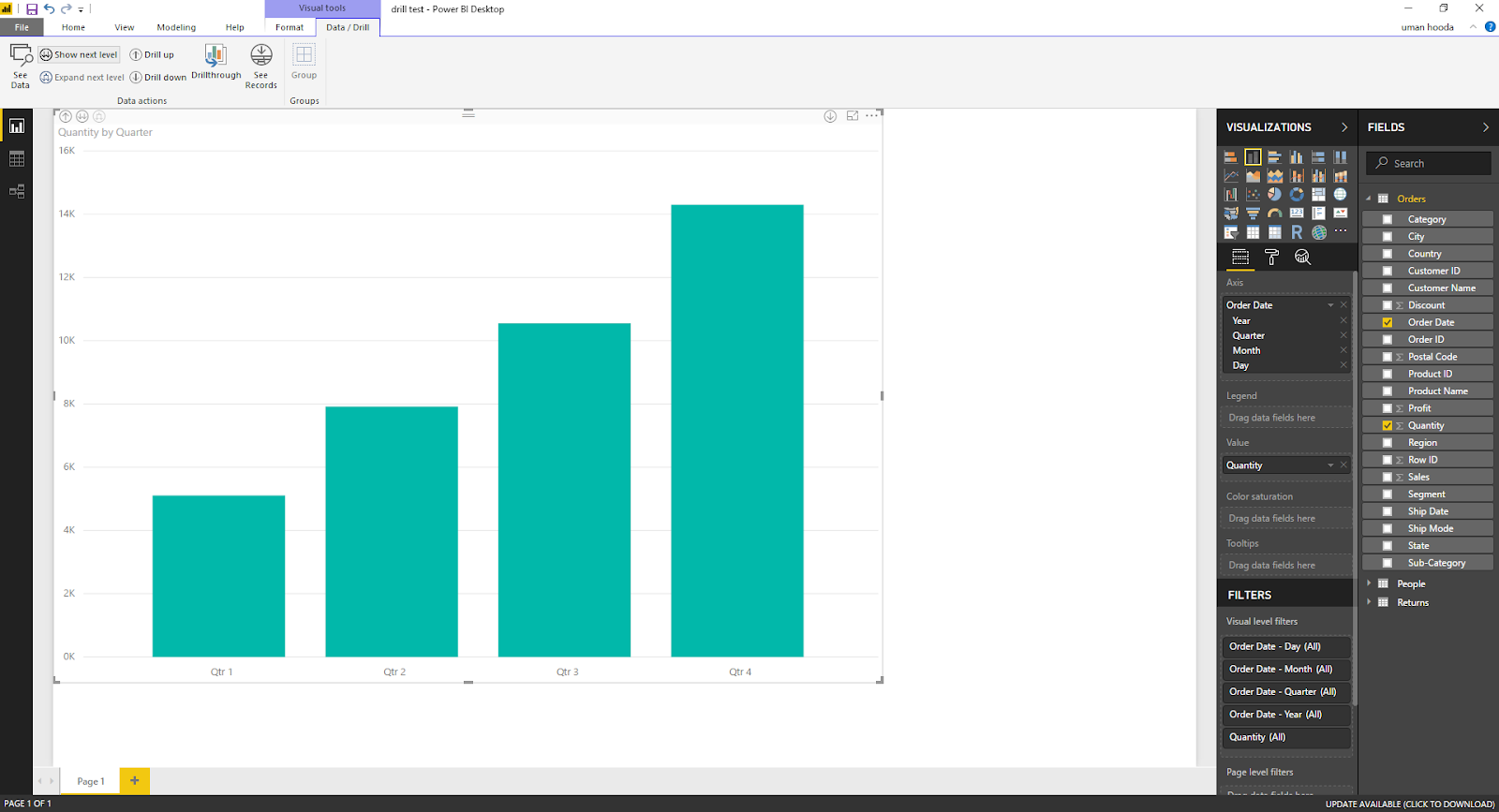 Drill In / Out on Your Data For Different Dates In Microsoft Power BI 43