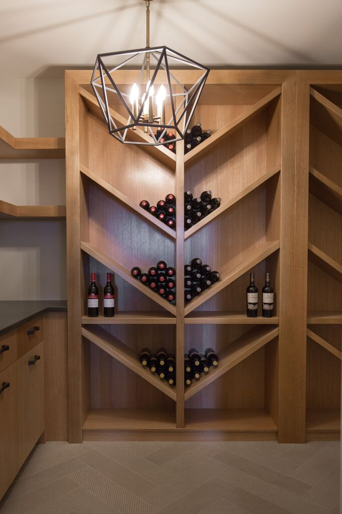 Calgary wine cellar custom made designed hardwood beautiful leanne bunnell interiors