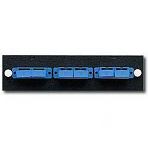 Leviton 5f100-24a sc fiber optic plate rack patch panel mount with.