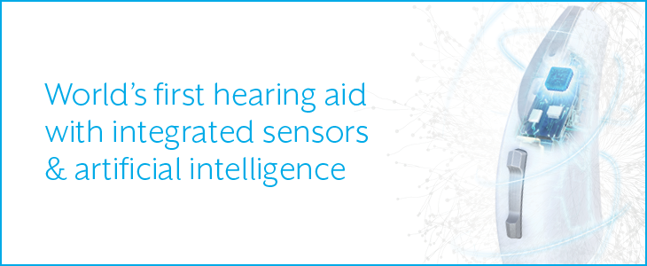 World's first hearing aid with sensors and AI
