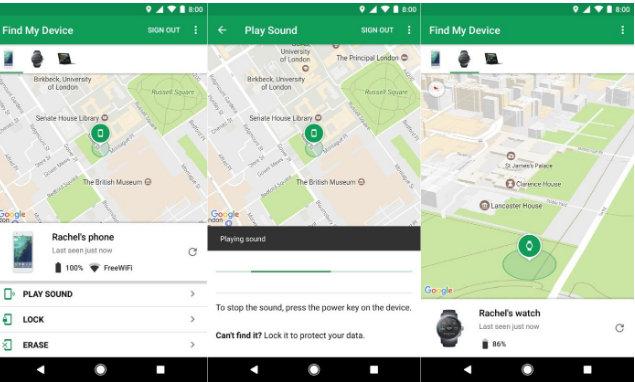 Tìm vị trí dễ dàng với Android Device Manager