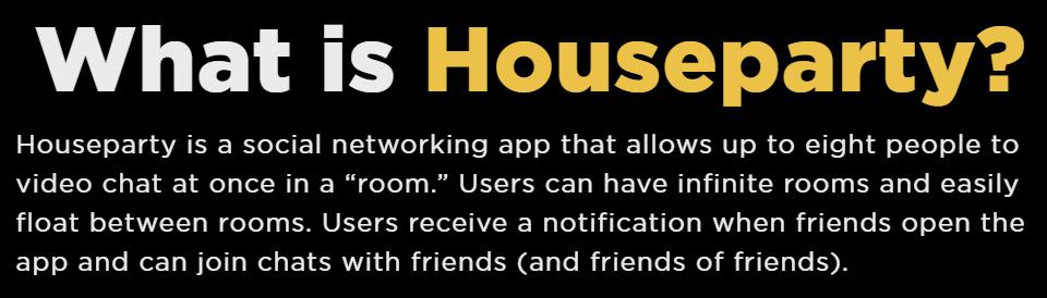 HouseParty  App Landing page