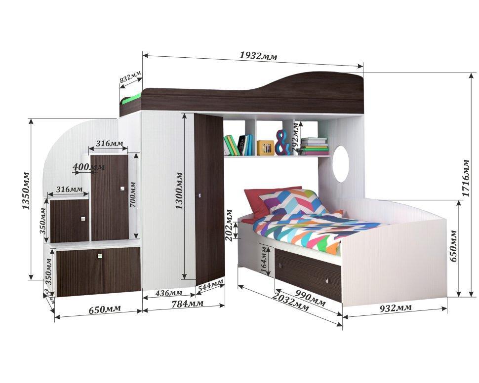 Детская кровать чердак размеры
