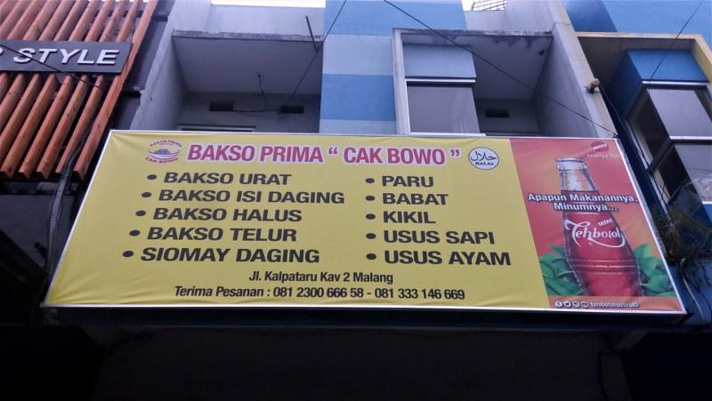 Gambaran Lokasi Bakso Prima yang merupakan salah satu bakso enak dan murah di Malang