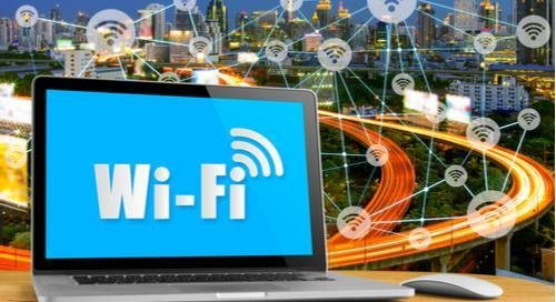 Wi-Fi écrit sur un écran