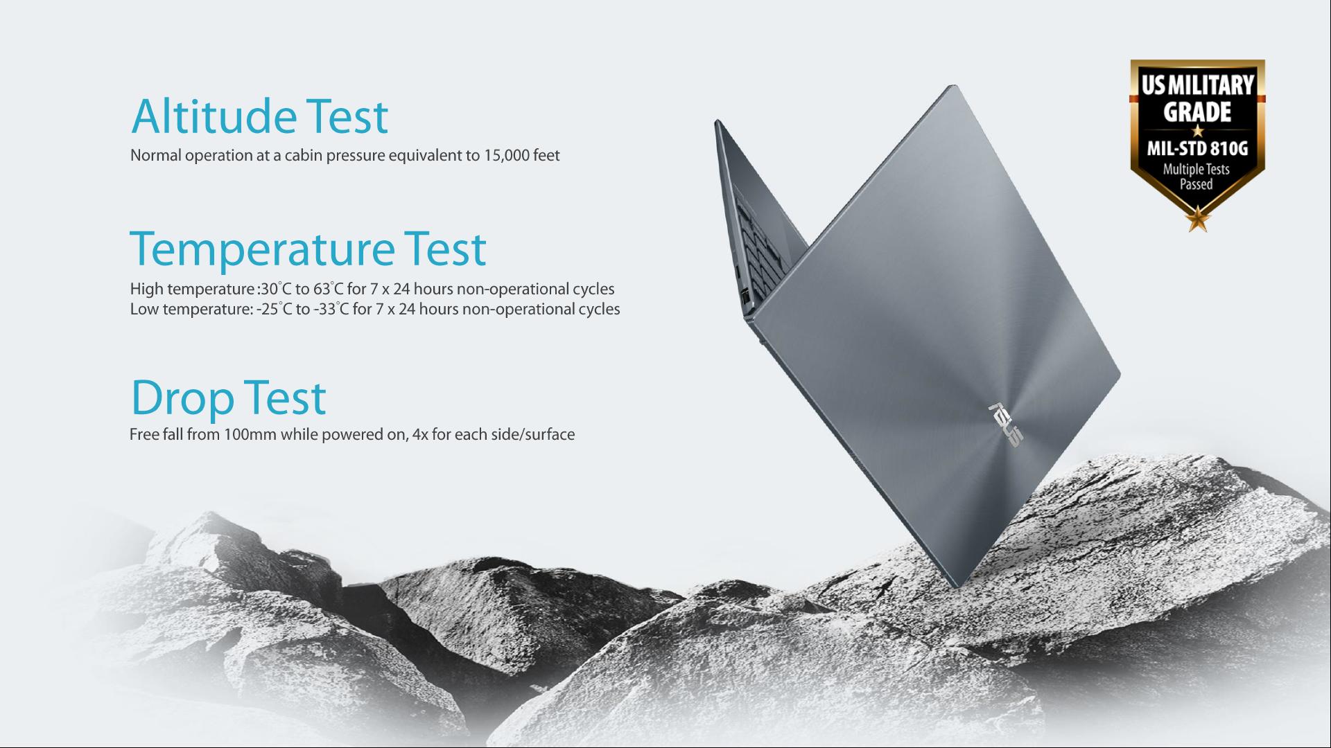 ZenBook độ bền chuẩn quân đội Mỹ