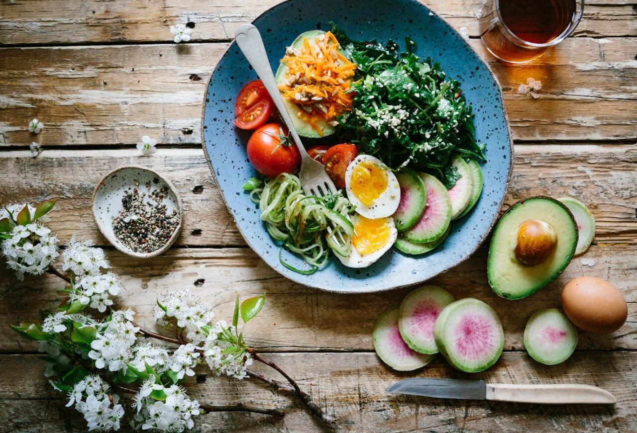 Photo of fruits, eggs, & veggies
