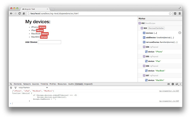 ng-inspector for AngularJS chrome extension