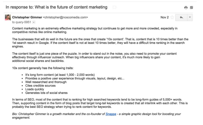 Blogger Outreach Email