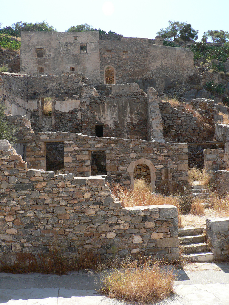 Buildings in Spinalonga Island, Greece