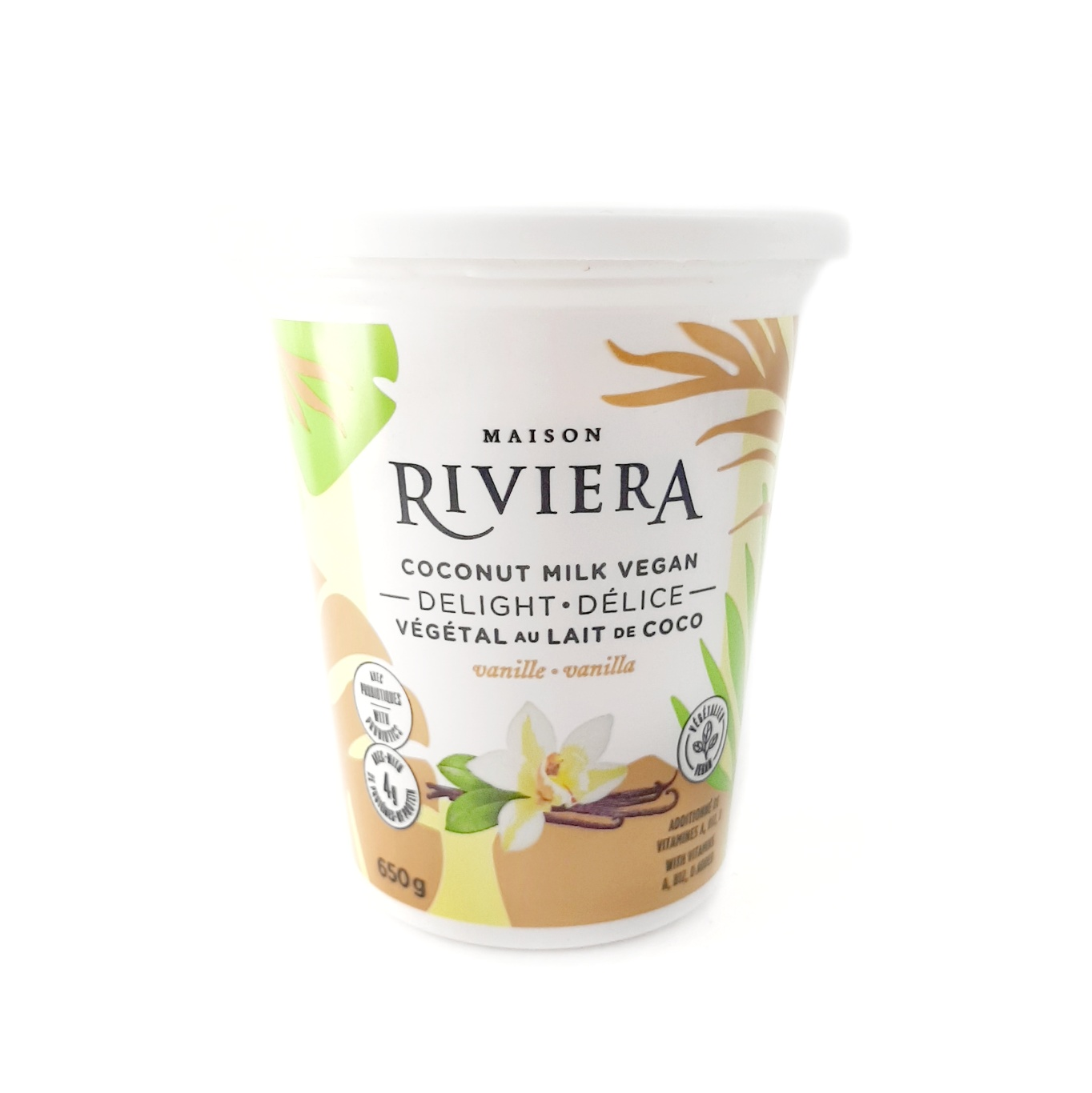image of a tub of vegan yogurts from the Maison Riviera brand