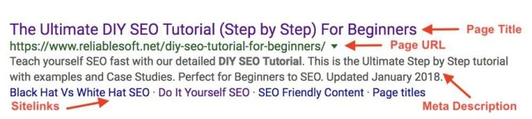 The other form of sitelinks only shows them as hyperlinks below the search result's meta description. [How to Get Sitelinks in Google Search Results]
