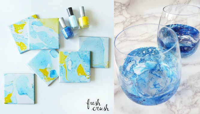 DIY Marbleize Techniques - I'm always on the hunt for new craft ideas. Check out some of these amazing craft ideas and craft projects that are on my crafting radar right now!