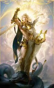 ArtStation - Apollo-阿波罗, Huang Guangjian   Zeus mitologia griega,  Ilustraciones mitología griega, Mitología romana