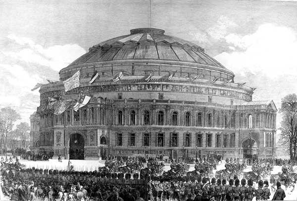 Image result for opening of the royal albert hall