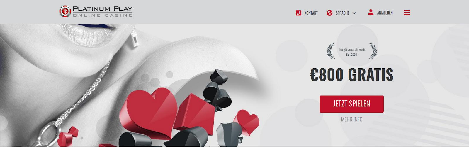 Platinum Play Casino: Stil und Design.