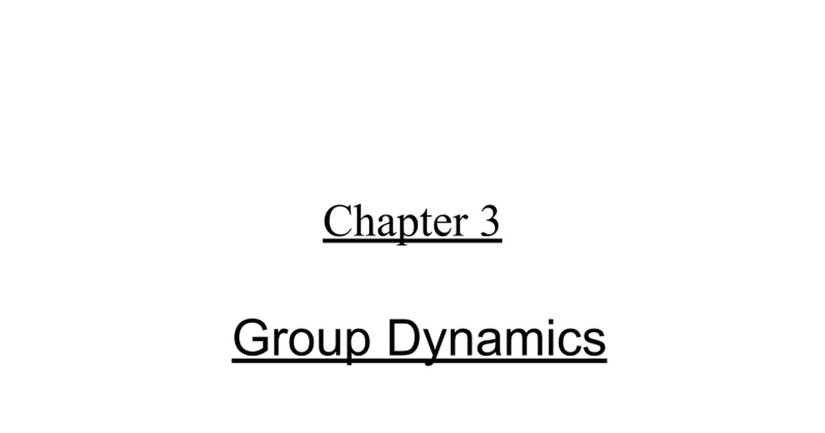 reflection paper on group dynamics • together the group can deliver more than the individuals who compromise it could do in isolation (francis & young, 1979) • team members must work together effectively to produce successful systems (bradley .