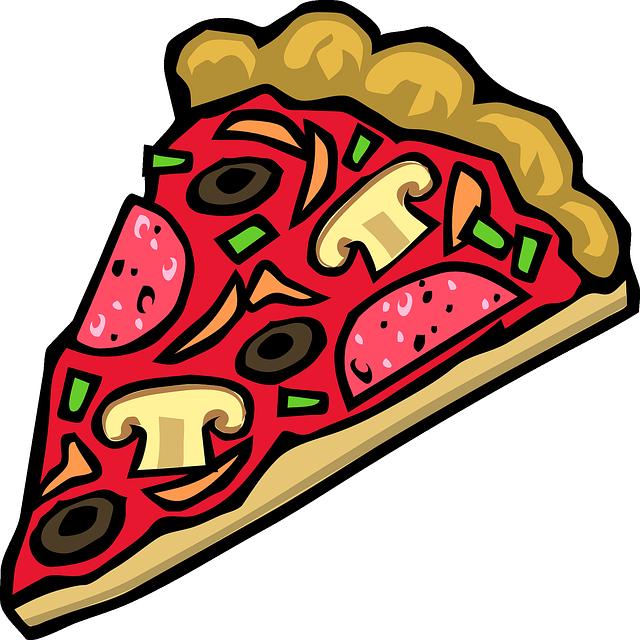 Pizza, Los Alimentos, Rebanada