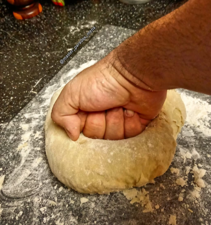 fist with dough
