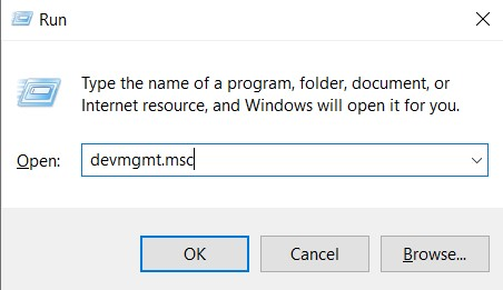 Press Windows key + R key, together, to launch the Run utility. You can also search for it in the search bar and type in Run.