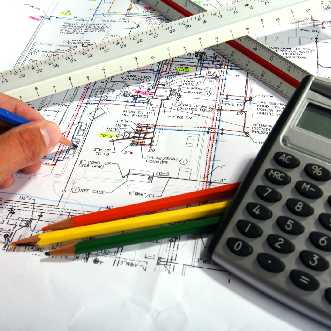 Un plan d'un projet de rénovation en cours d'étude