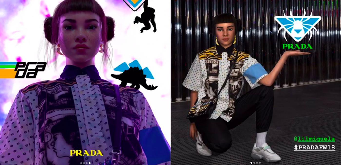 Virtual Influencer Lil Miquela Promotes Prada