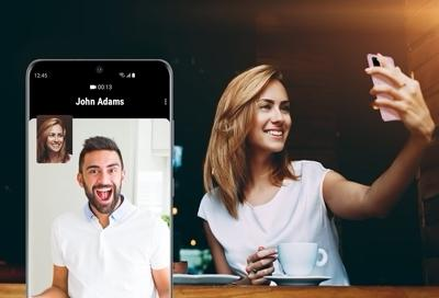 Enjoy video calls on your Galaxy phone