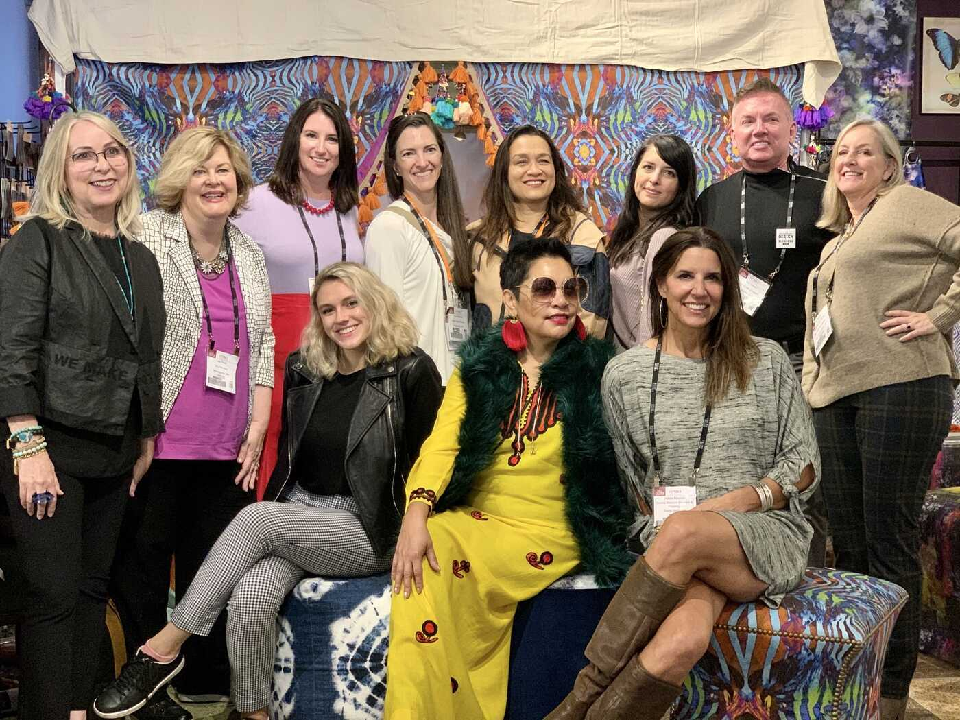 Melanie Honig (far left) and designers and bloggers on the High Point Market fall 2019 Design Bloggers Tour.