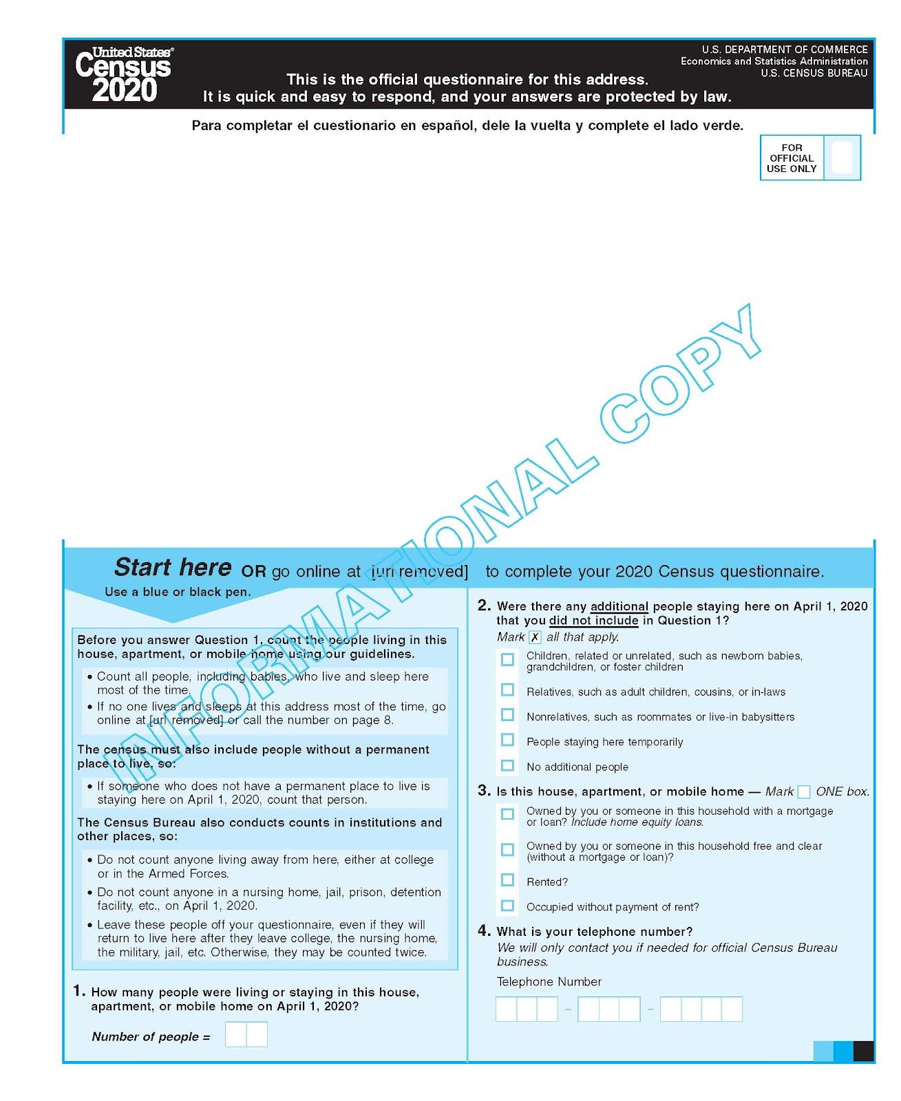 Example 2020 Census