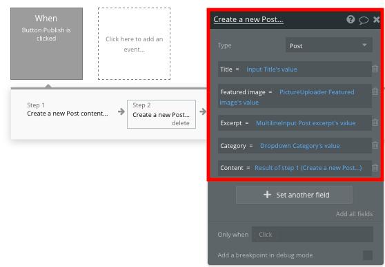 Bubble no code medium clone blog post content tutorial