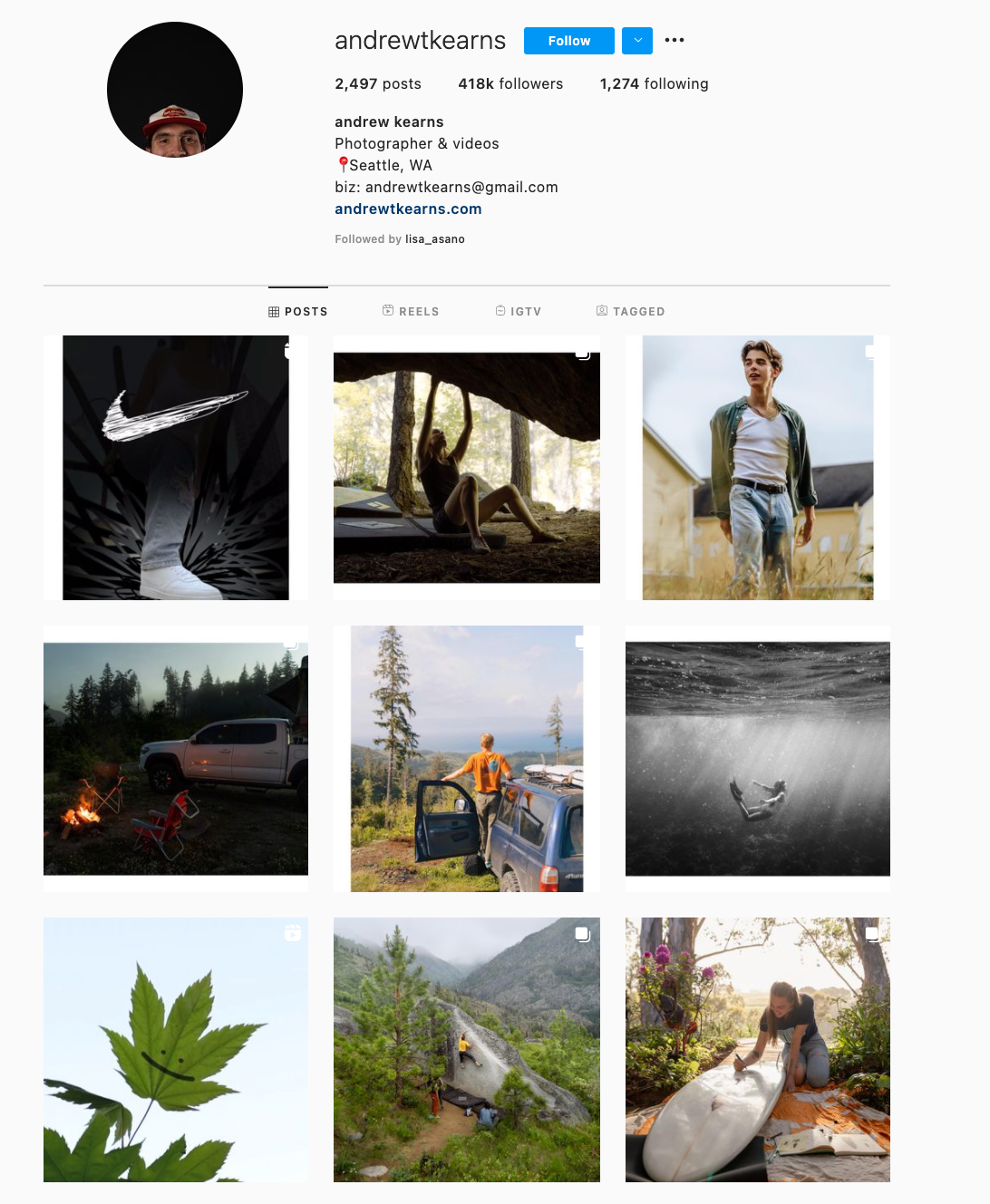 Mix and Match Horizontal and Vertical Borders Instagram Theme Example