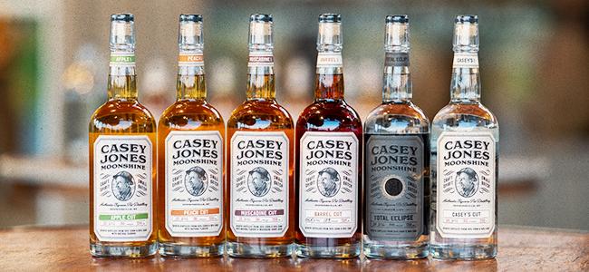 The Range Of Kentucky Moonshine Available From Casey Jones Distillery