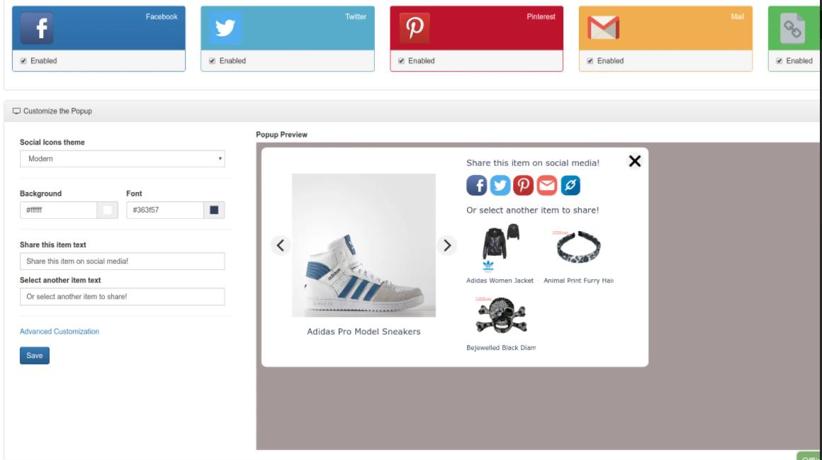 effective Shopify social share app