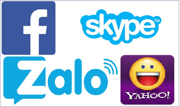 liên lạc bằng các phần mềm miễn phí