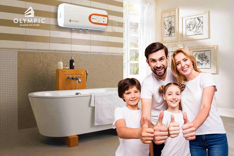 Bình nóng lạnh Olympic - lựa chọn số 1 cho gia đình