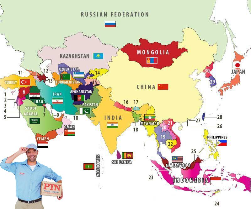 Dịch vụ chuyển phát nhanh Châu Á chất lượng