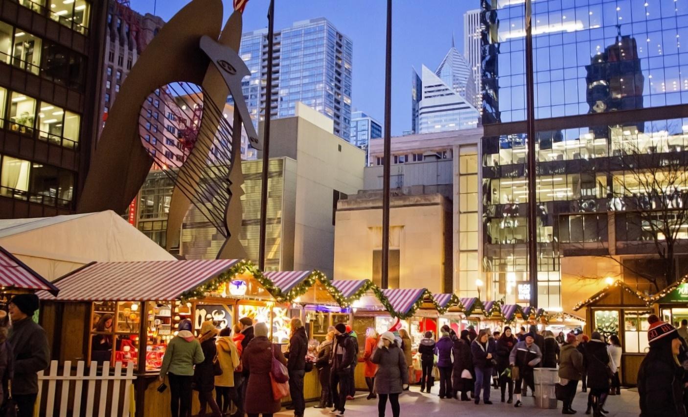 Bildergebnis für christmas market chicago