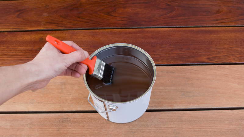 re-staining your deck is a great home improvement project for the summer