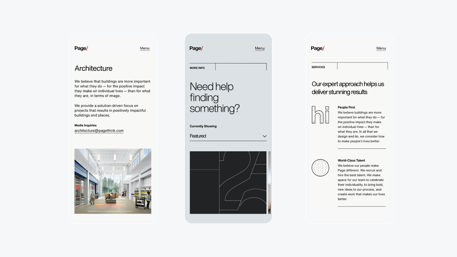 Handsome New Foundation for Global Architecture Firm, Page — Case Study