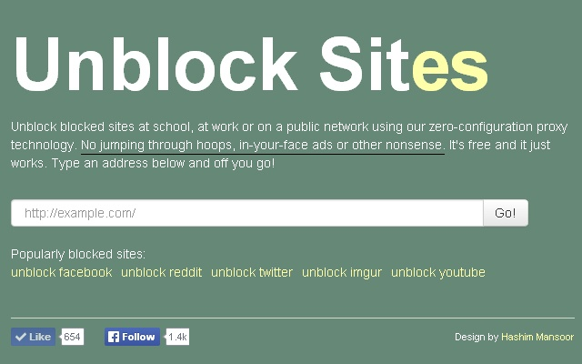 Unblock sites a fast secure anonymous free web proxy that is totlly