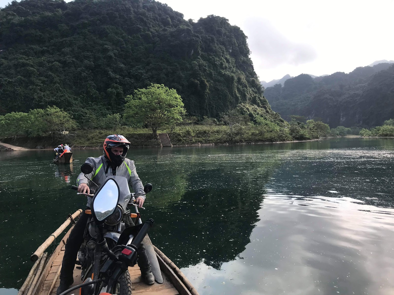 Onyabike Adventures tour on a boat: Motorbike routes Phong Nha