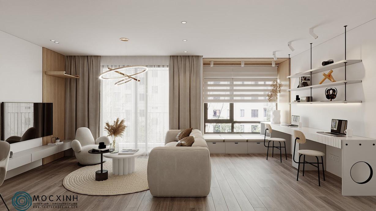 Không gian căn hộ mang vẻ đẹp hiện đại
